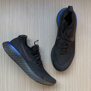 Nike Black Epic React Flyknit 2 Running Shoes